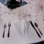Table setting for wedding breakfast