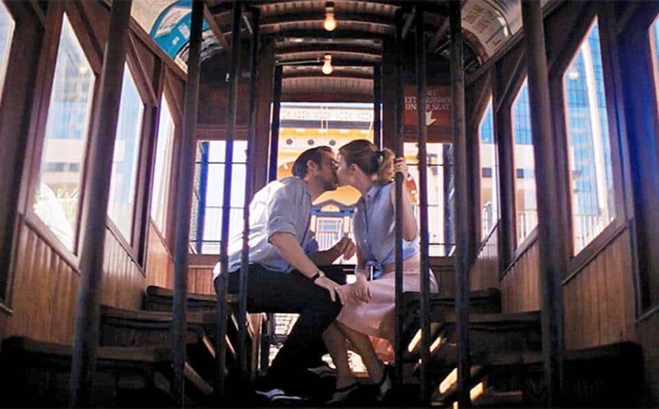 La-La Land tram kiss